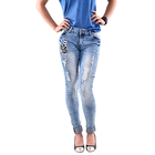 Affordable girls old jeans woman white shirts for women private label denim rivet jean