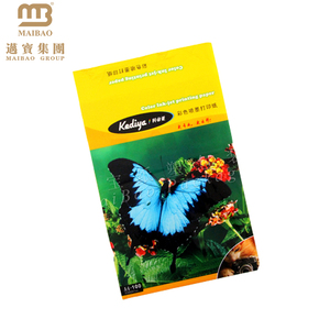 printed self adhesive opp plastic bag with hanging header