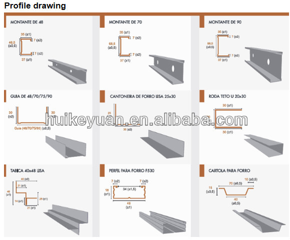 Building Material Steel Roofing Sheets Drywall Partition