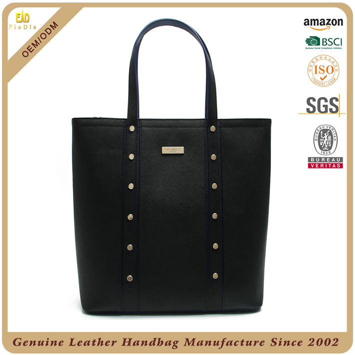 Italy Fashion genuine leather shoulder bag women with studs real lady leather shoulder bag