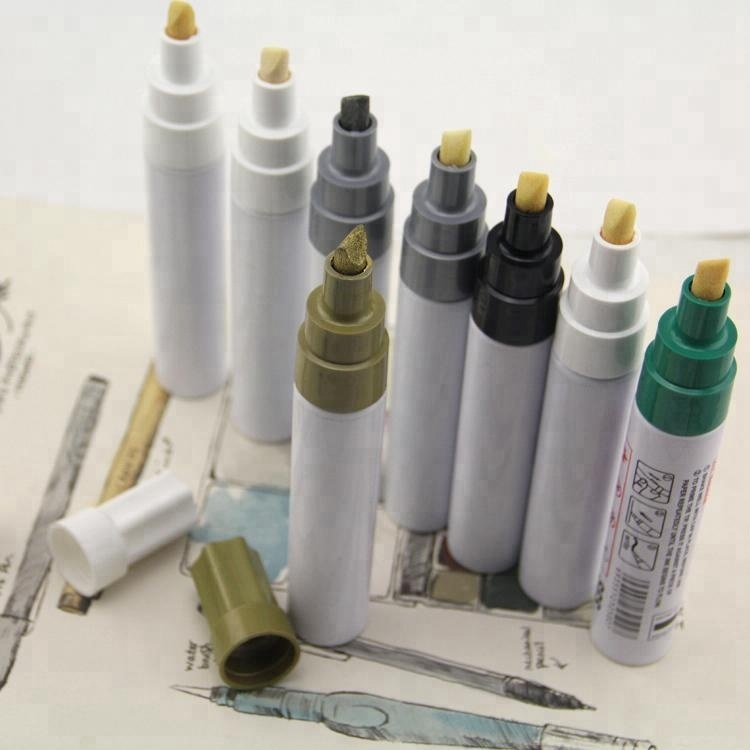 Aluminum Barrel in Acrylic Tip Paint Industrial Marker for metal and steel