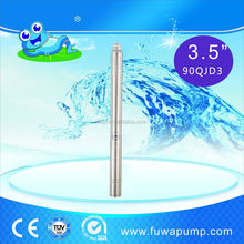 3.5'' 90QJD3 guaranteed quality steel head deep well submersible pump