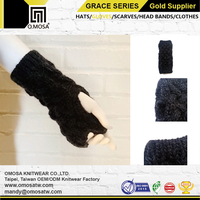 O.MOSA Knitted Gloves Wholesale Acrylic Polyester Cross Yarn