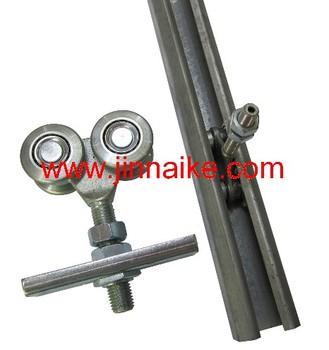 Hanging door channel hanging gate roller track buy for Track hanger