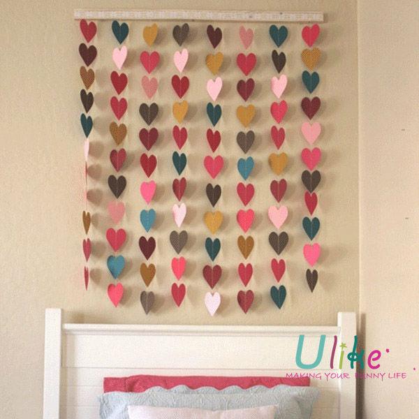 Tissue Paper Made 3m Length Heart Shape Tissue Paper Garland Wedding