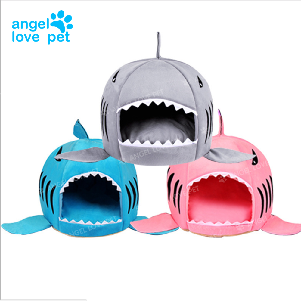 Shark Shape Bed for Small Cat Dog Cave Bed With Removable Cushion,waterproof Bottom
