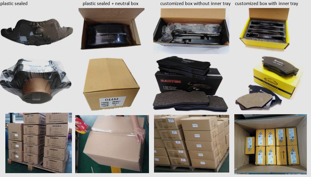 Groothandel onderdelen keramische remblokken D1252-8370 voor SMART ROADSTER FORTWO CROSSBLADE automotive remmen