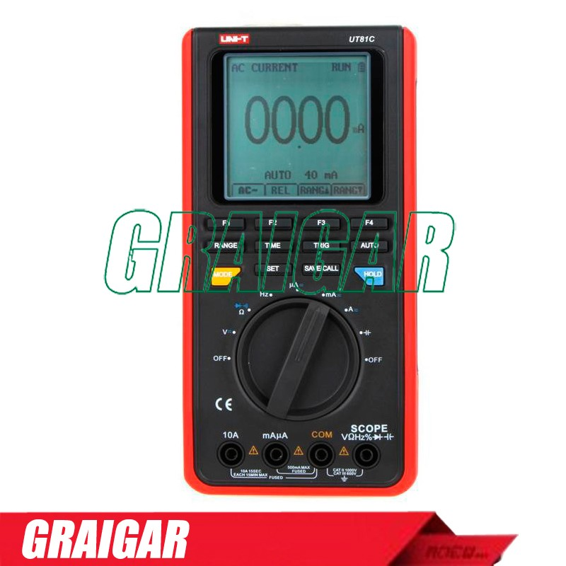 UNI-T UT81C 16MHz 80MS/s Real-Time Sample Rate Handheld Scopemeter Oscilloscope Digital Multimeter with Capacitance Measurement
