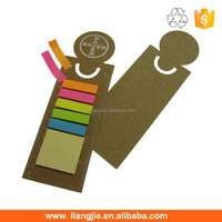 Eco Custom Logo New Design Ruler Bookmark With 5 Color Sticky Notes