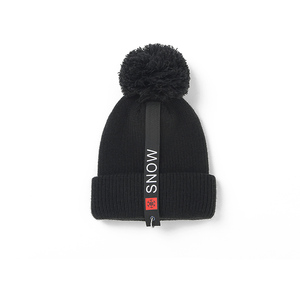 Custom Keep Warm Winter Beanie Knitted Hat with Pom Tops