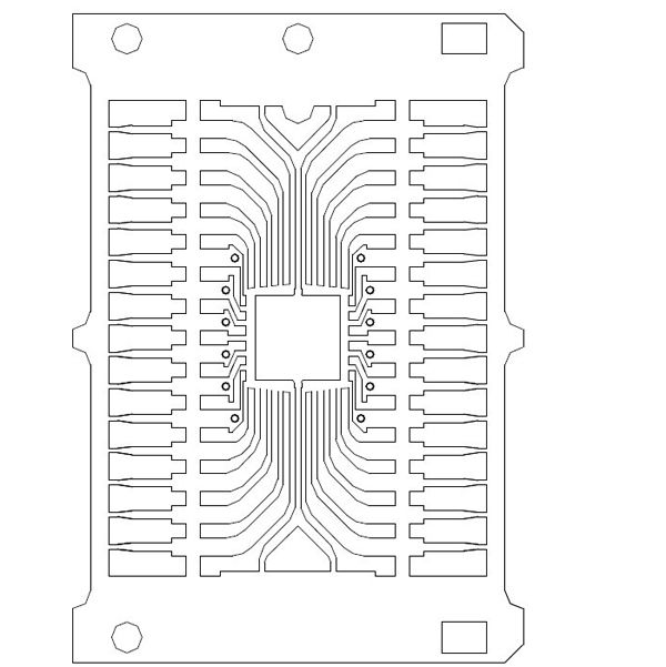 oem stamping smd lead frame with ag spot plating for pcb