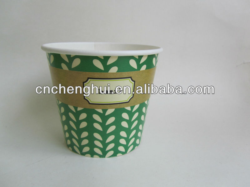 16oz Food Grade Disposable Icecream Paper Cups
