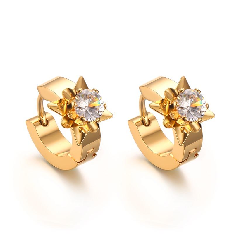 Ksf 2016 Gold Earrings Designs Cz Hoop Earring For Party - Buy Gold ...