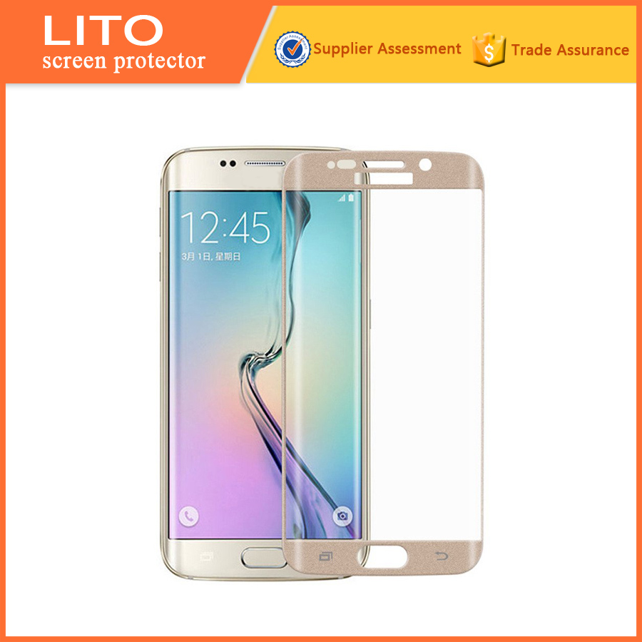 new products 2015 Tempered Glass screen protector s6 edge curved
