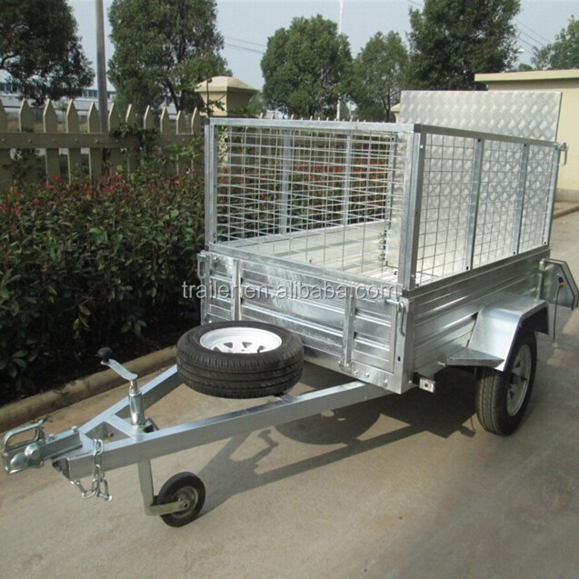 Mesh Cage And Ramp Trailer