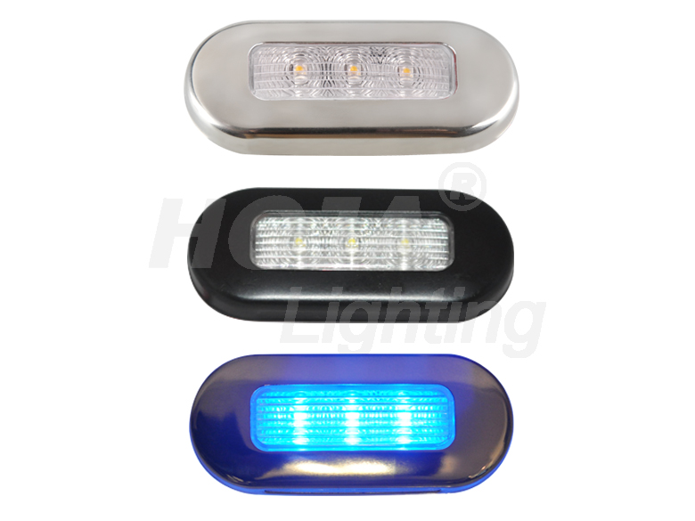 LED Oblong Courtesy Light 3 inch(75mm)x1-1/4inch(32mm) 12v courtesy lights marine