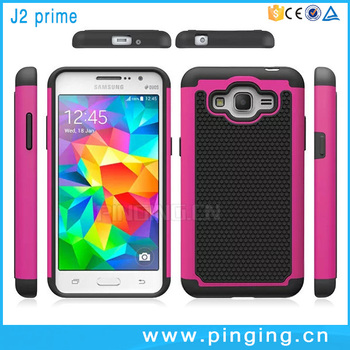 Wholesale 3 In 1 PC Silicone Football Texture Hard Case Cover For Samsung Galaxy J2