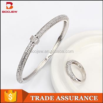 5b7396f01b8 Wholesale Indian Elegant Latest Design Girls White Gold Plated Handmade  Adjustable Bangles With Rings - Buy Girls Latest Bangles,Handmade ...