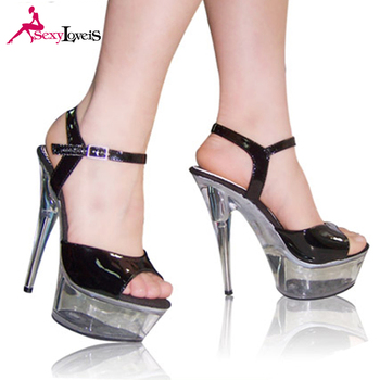 Black Fashion Women Sandals Transparent High Heels Summer Ladies hrxsdtQC