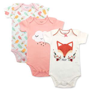wholesale 2018 low price new style organic cotton kids newborn baby girls wear children clothes with China manufacturer