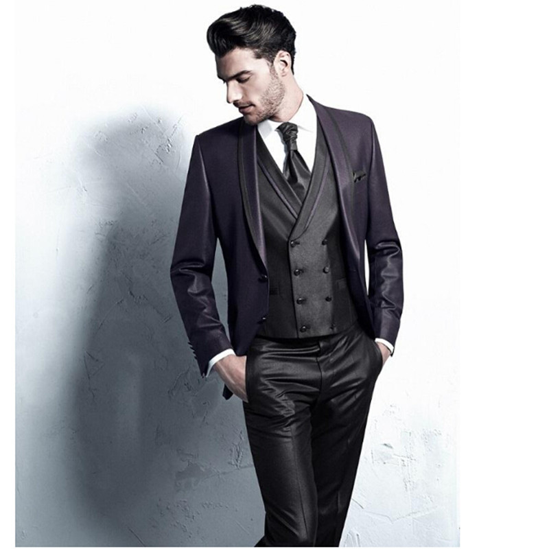 Get Quotations Mens Wedding Suits Shawl Lapel Tuxedos Groom Attend Formal Party High