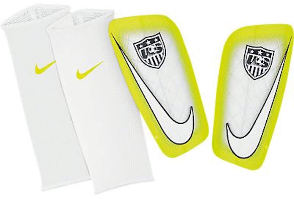 detailed images new lower prices cheapest price Buy Nike USA Mercurial Lite Soccer Shin Guards (White, Volt ...