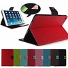 Solid color Leather Case for iPad Air support stand