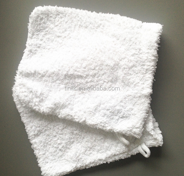 Wholesale White Color Use Water Only Microfiber High Absorbency Makeup Remover Glove
