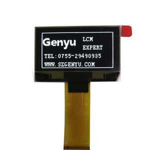 0.96/1.3/1.54 inch White China ShenZhen Genyu Factory Price 128x64 dots Pi cog lcd display module screen with Rohs Compliant