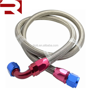 8AN Straight and 90 degree Fitting Stainless Steel Braided Oil Fuel Gas Hose