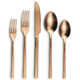 elegant gold color matte 18/10 stainless steel flatware, rose gold matte cutlery set