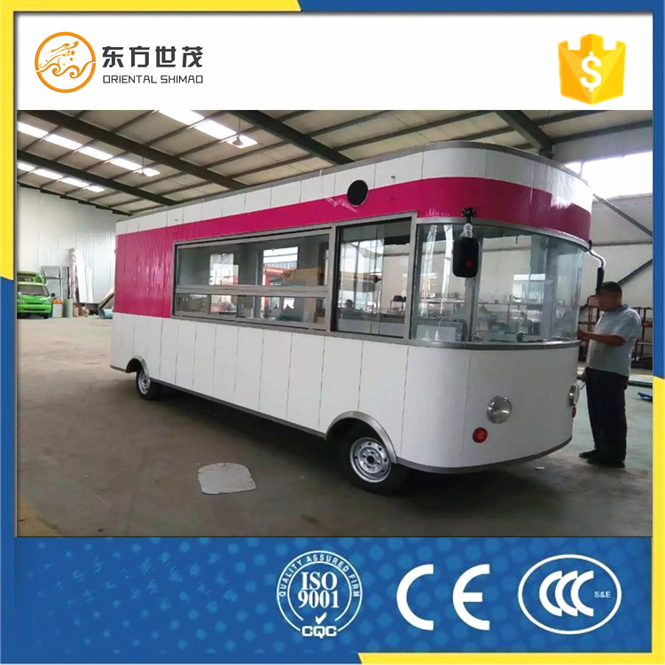 Solar energy kiosk shop van coffee hot dog street view cart bus food truck made in china