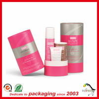 Luxury cosmetic paper tube packaging round case tin cans for essential oil bottle face cream bottle packaging box