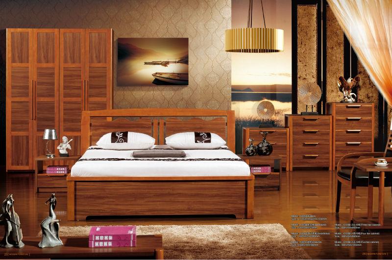 بسيطة 2014 الملكة سرير مزدوج أثاث غرف النوم مجموعة كانت مصنوعة من