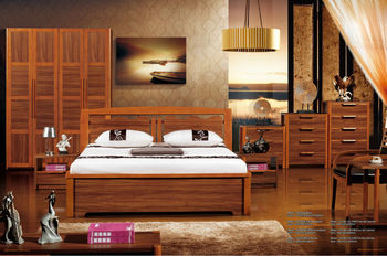 2014 queen double bed simple bedroom furniture set was made from
