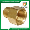 "1/2 1/4"" Brass npt Female Thread Pipe Fitting Reducer Bush"