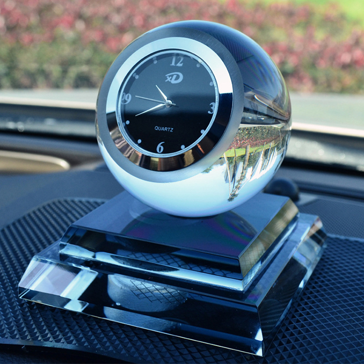 Crystal Decorative Items Automobile Perfume Bottle Base Crystal Ball  Candle Holder Clock Car Ornaments