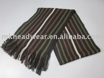 Vertical Striped Scarf Knitting Pattern : Machine Knitted Vertical Stripes Scarf With Tassels For Men - Buy Colorful St...