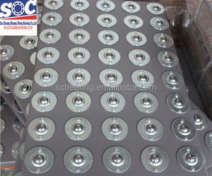 "CY-22B Two Holes 7/8"" Carbon Steel Ball Transfer Bearing Unit Table Conveyor Roller Ball"
