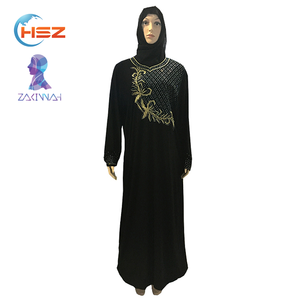 Zakiyyah 8503 Fashion Dubai Nida Abaya Fabric Dubai Abaya Style Hot Sale In 2017
