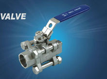 1000PSI/PN63 Locking Device Handle 4 inch 3-pc SOCKET WELD ball valve full port investment precision casting