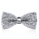 High Quality Polyester Bling Bling Bridegroom Decoration Cheap Bowtie for Wedding