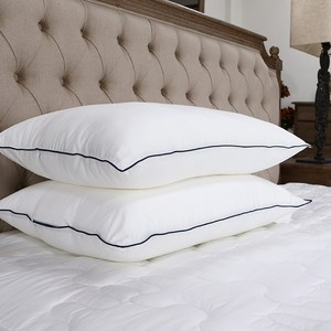 King size white duck down hotel pillows set