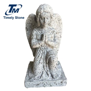 Life Size Wing Design Garden Stone Angel Statue