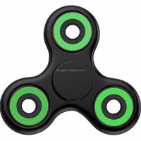 Popular green color edc fidget hand finger spinner with 608 hybrid ceramic bearing