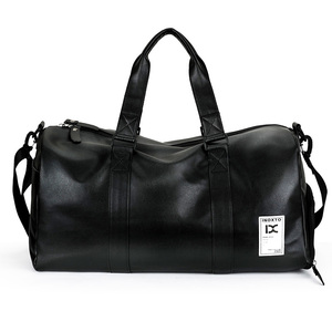 Luxury Cross Shoulder sports gym Mens Leather Duffel Bag