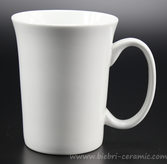300ml Ivory White Decal Printable Customized Design Fine Bone China Coffee Mugs
