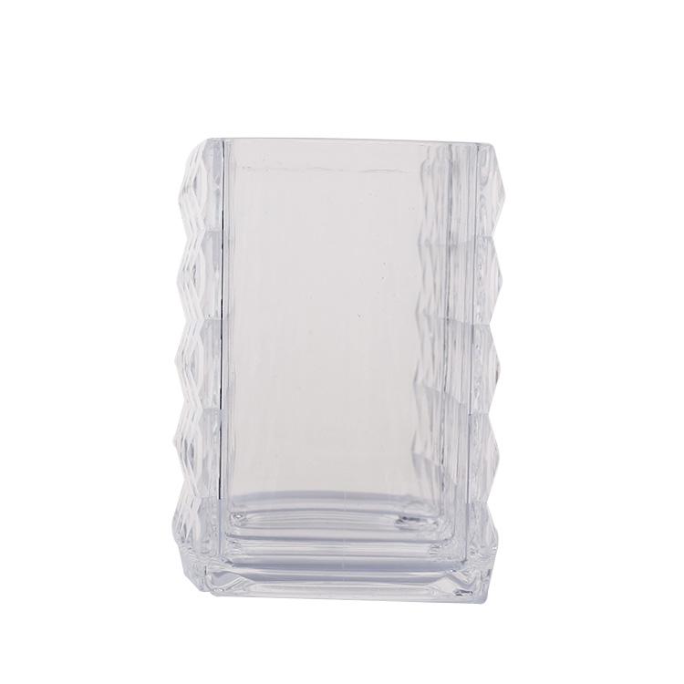 Portable Acrylic Storage Box Makeup Cosmetic Organizer Makeup Brush Holder