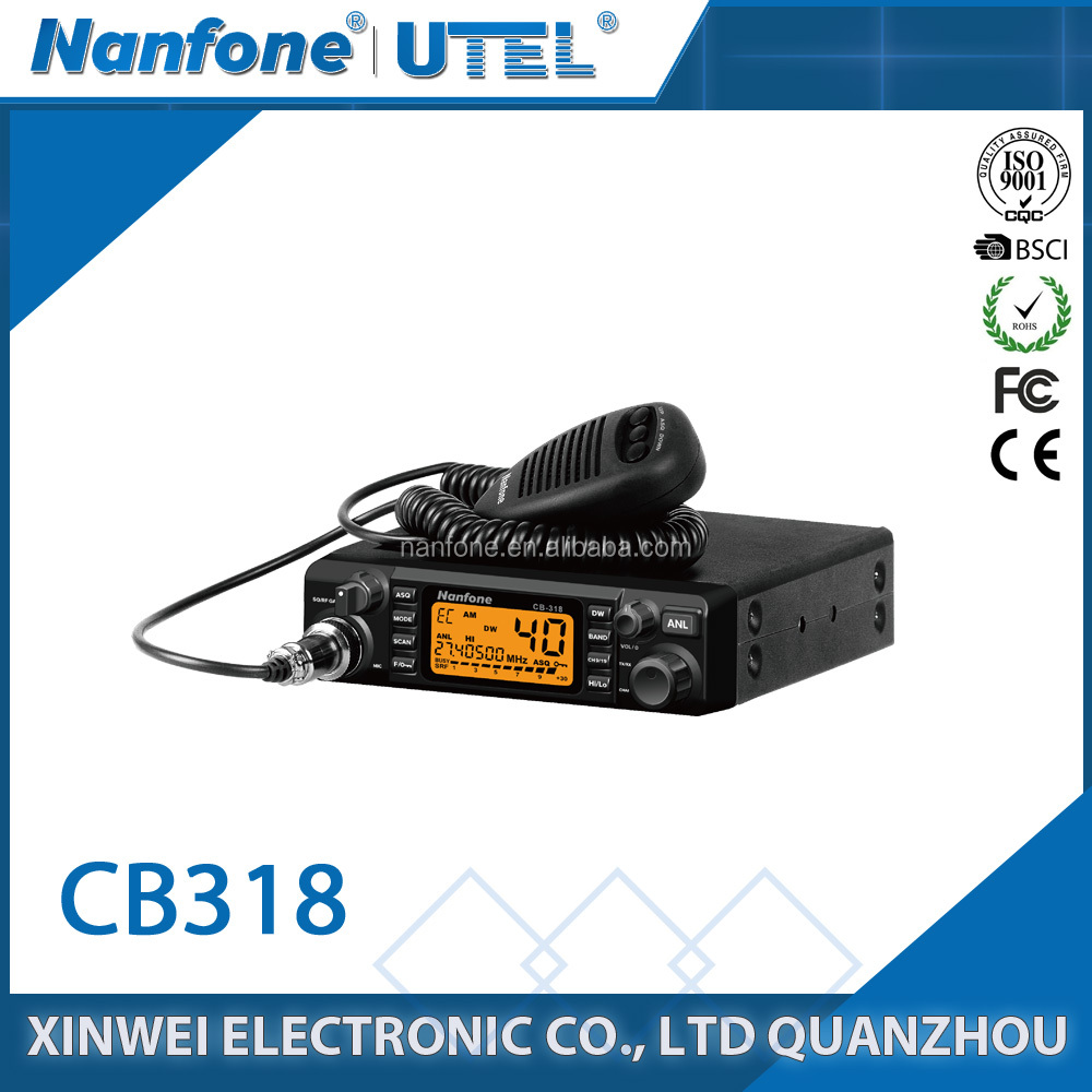 Nanfone CB-40 AM 10 km car mounted two way radio