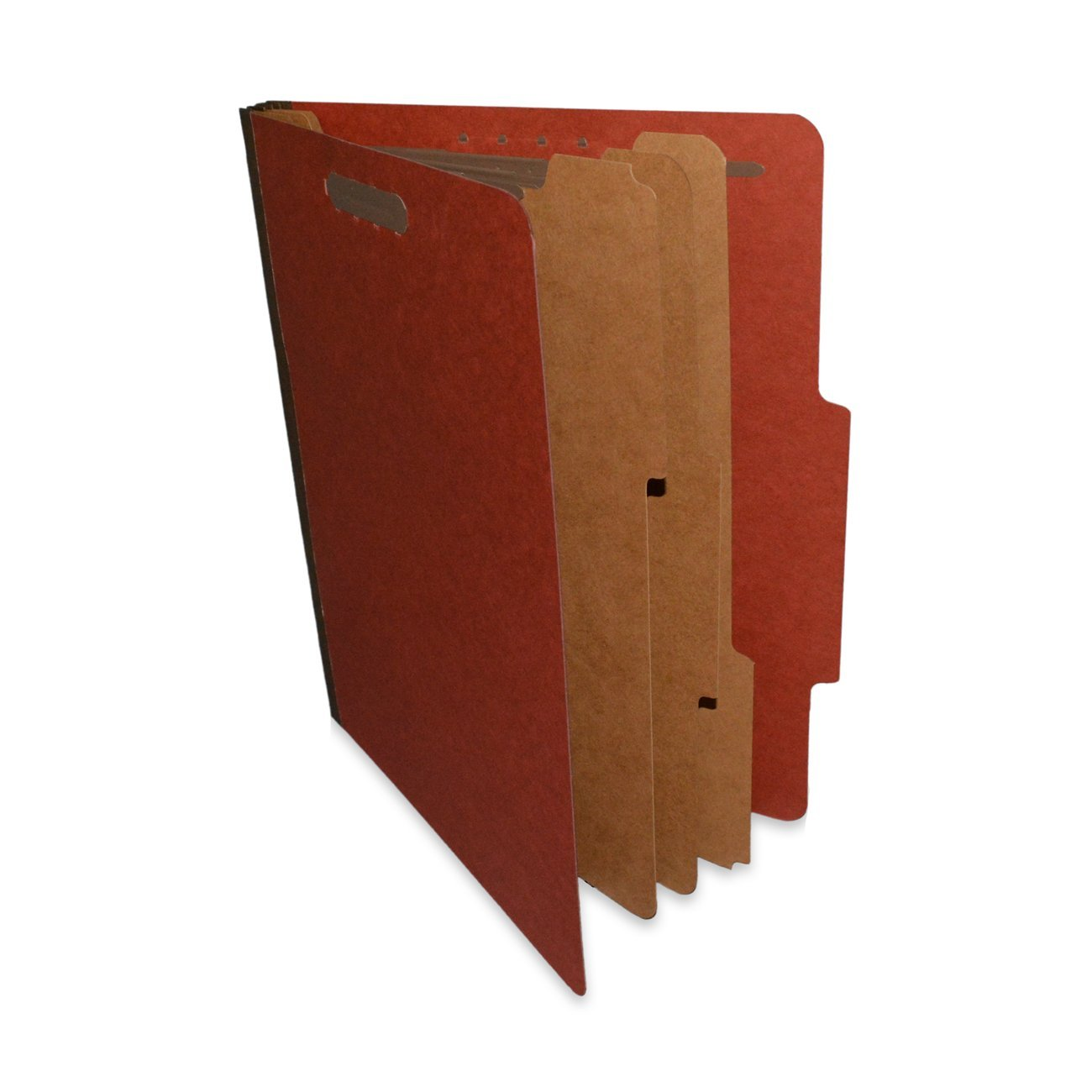 "ALL-STATE LEGAL Classification File Folder, 3 Dividers, 3"" Expansion, Letter Size, Executive Red, 10 per Box"